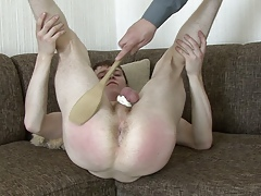 Nasty bdsm spoon beatings video